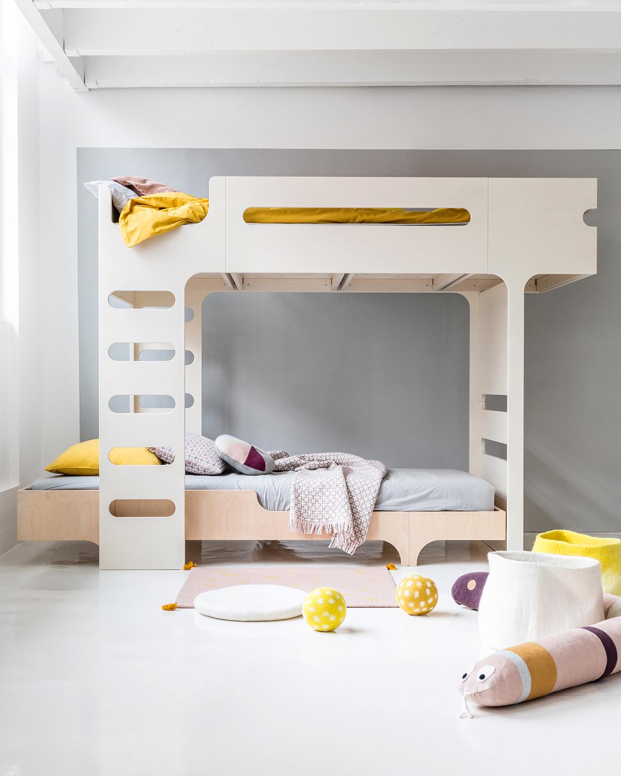 F&A75 Bunk Bed for 2 Children - Designer Furniture - Rafa-Kids