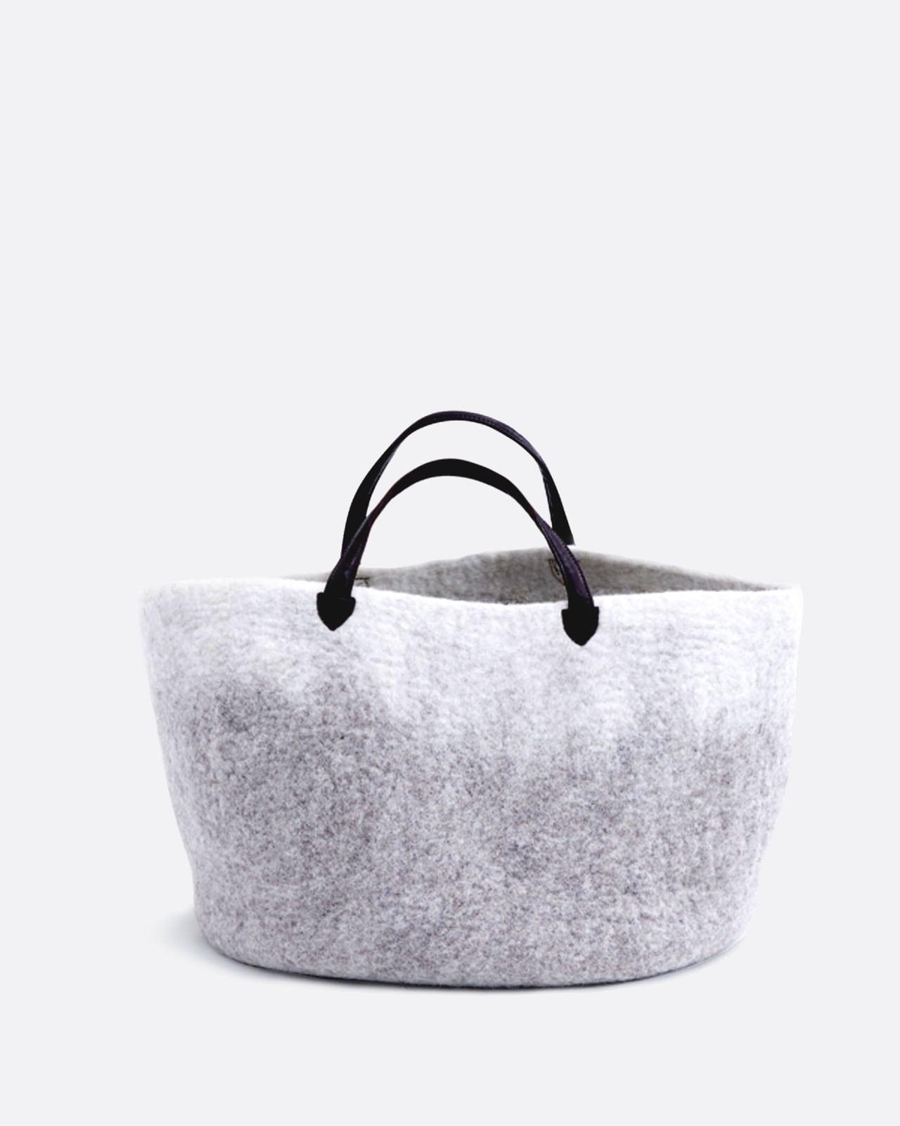 Felt Bag With Leather Hanger Designer