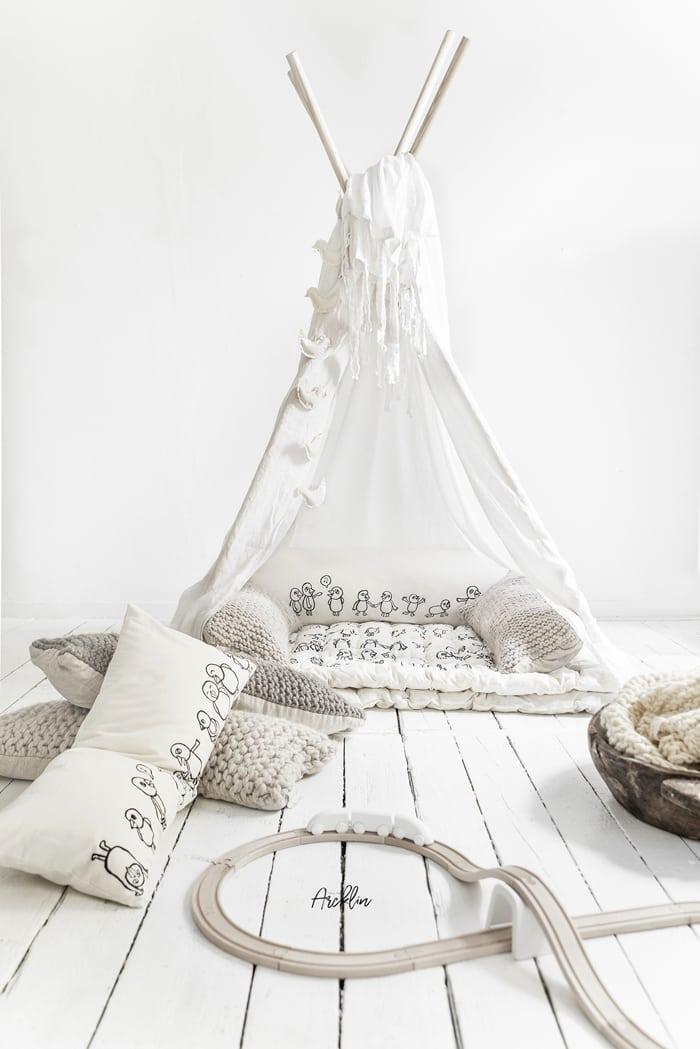 White tipi for Children Room