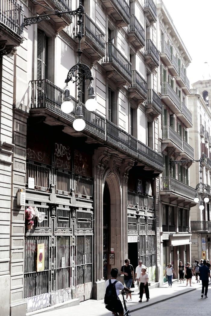 Barcelona streets in summer