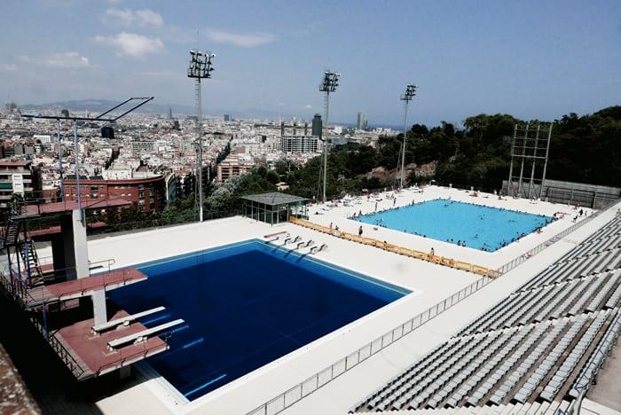 Swiming poll in Barcelona