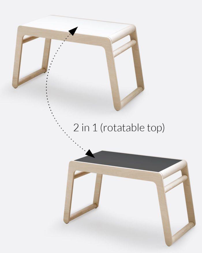 Rafa-kids B table rotatable top